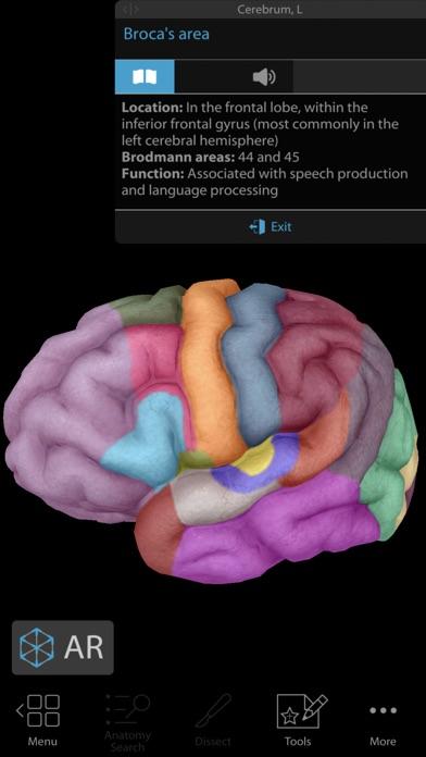 Screenshot of Human Anatomy Atlas 2019 App