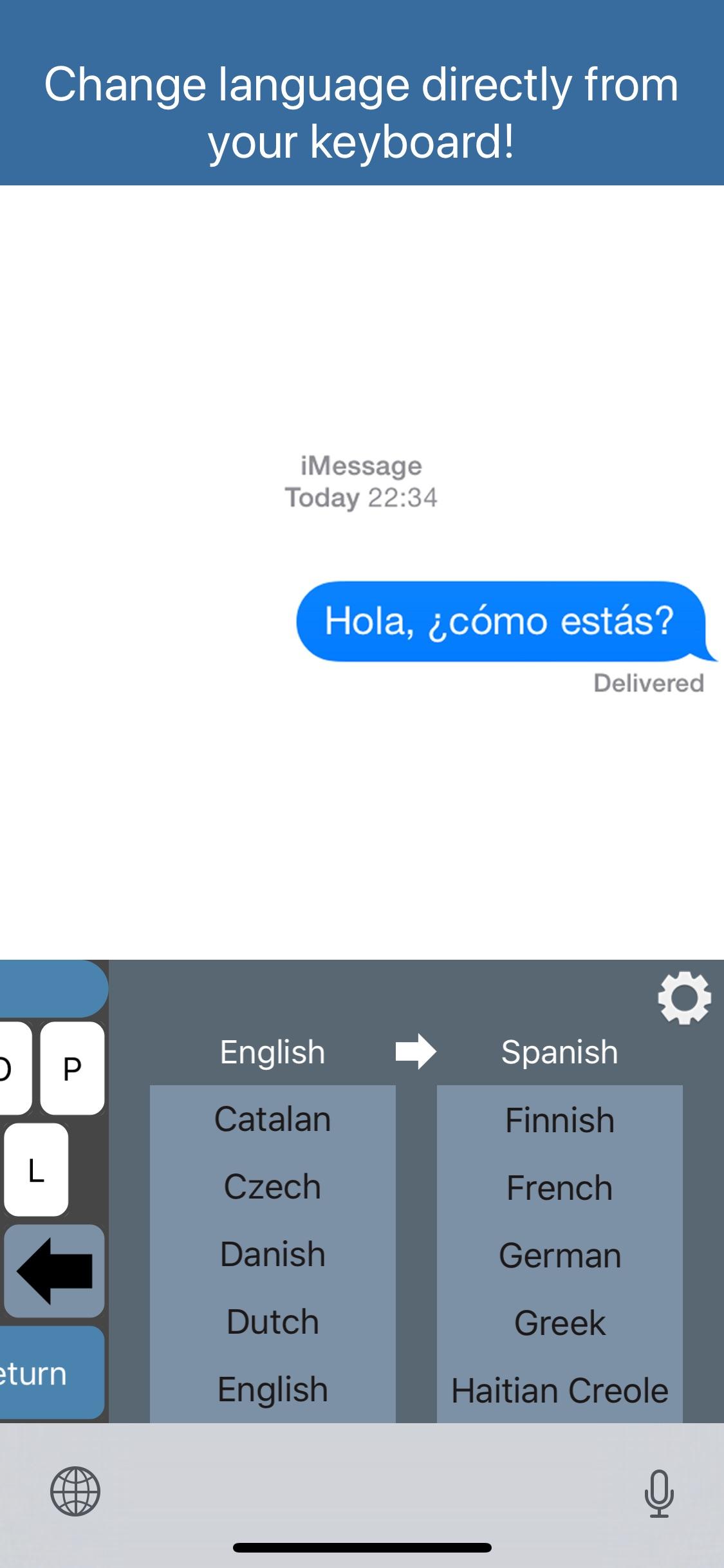Screenshot do app Translator Keyboard