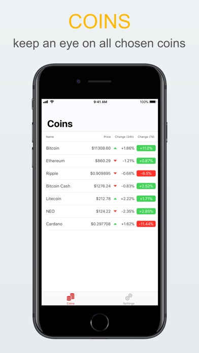 Cryget - Cryptocurrency Widget Preview 1