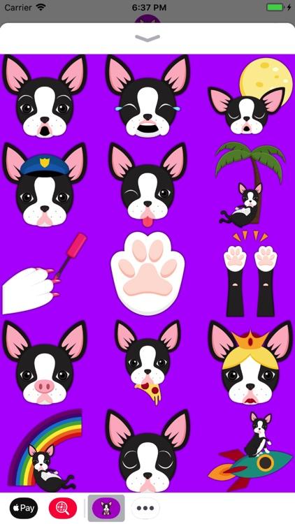 Black Boston Terrier Emoji screenshot-3