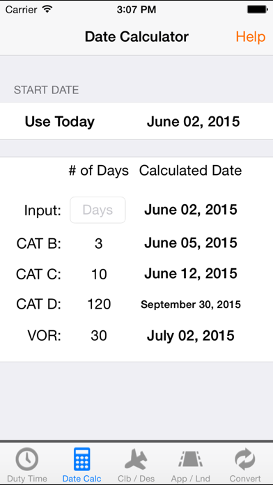 Aviation Pilot Duty & Performance Calculator screenshot