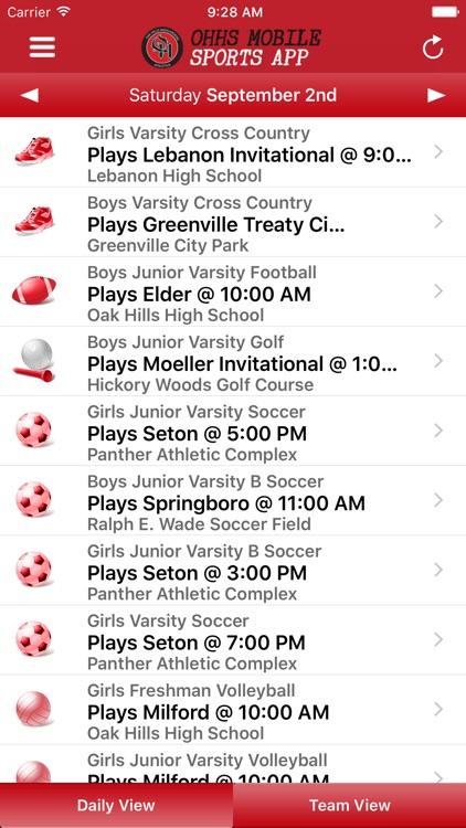 Oak Hills High School Mobile Sports