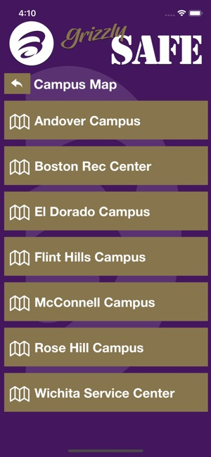 Butler Community College Campus Map.Grizzlysafe On The App Store