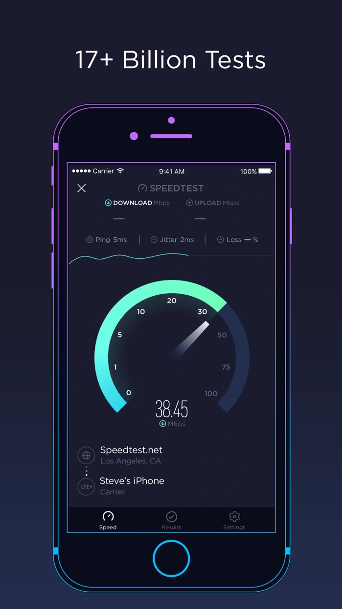 Speedtest by Ookla Screenshot
