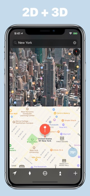 We maps 04 3d 2d world map on the app store iphone ipad imessage apple watch gumiabroncs Choice Image