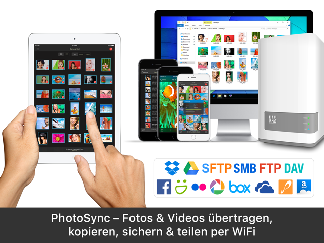 PhotoSync - Fotos übertragen Screenshot