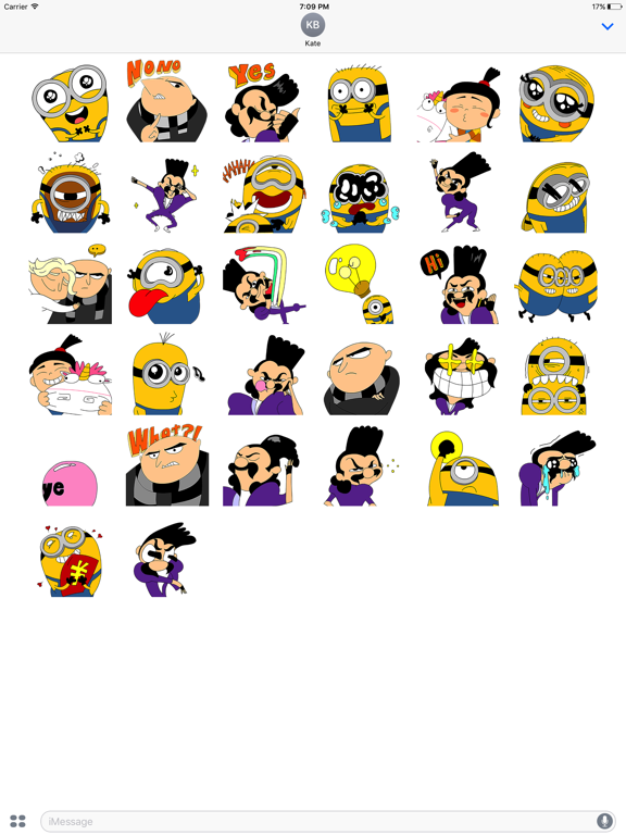 Despicable Me 3 x Momo Wang Stickers screenshot 4