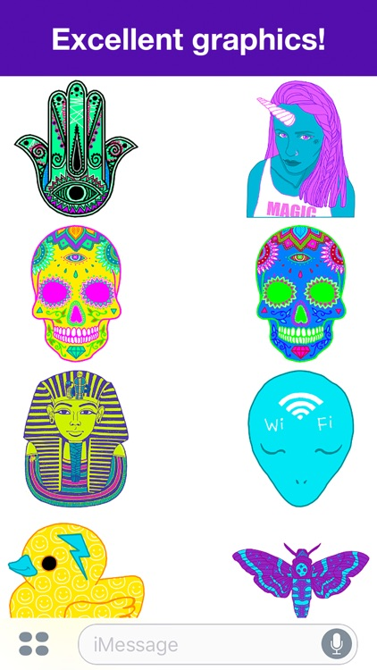 Psychedelic stickers screenshot-2