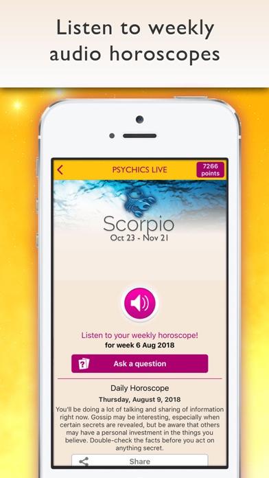 Psychics Live Horoscopes Tarot Screenshot