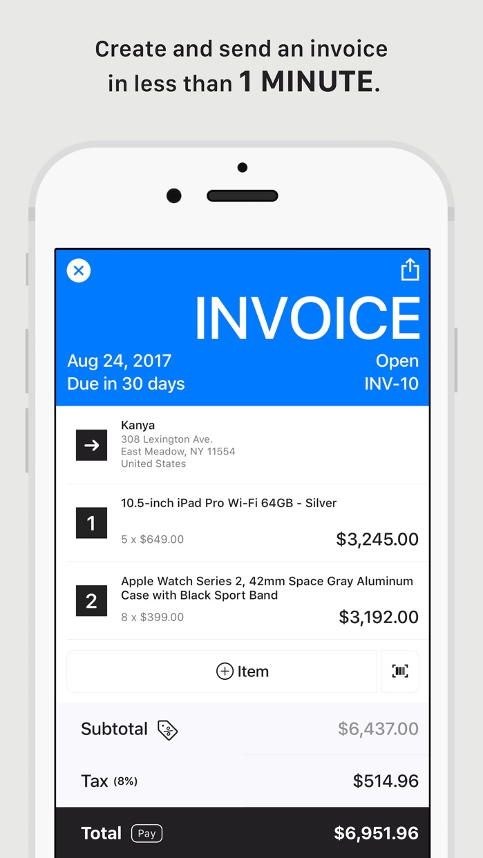 Tiny Invoice - Invoice & Estimate Screenshot