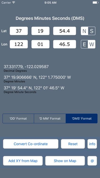 Coordinate Converter DD DMS screenshot-3