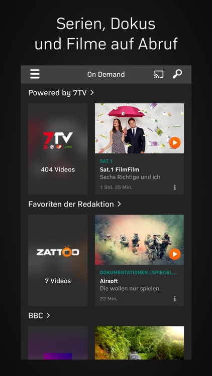 Zattoo - TV Streaming
