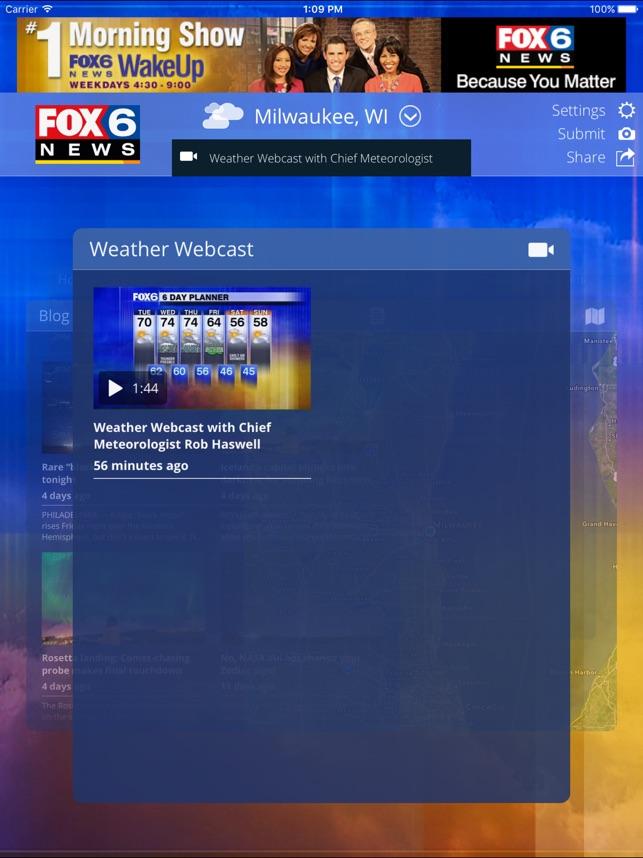 "App Store 上的""FOX6 Milwaukee Weather"""