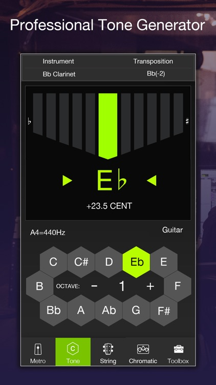 TE Tuner Chromatic tuner&tempo screenshot-3