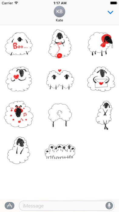 Lovely And Funny Sheep Sticker screenshot 3