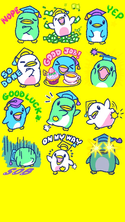 123 Grad Penguins Sticker Pack screenshot-3