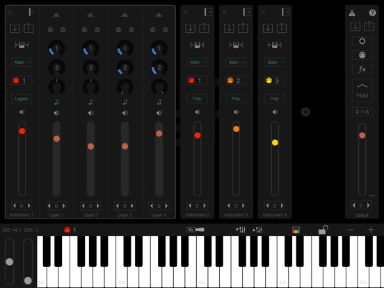 Screenshot #1 for LayR-Multi Timbral Synthesizer