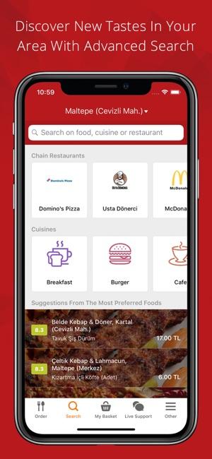 Yemeksepeti Screenshot