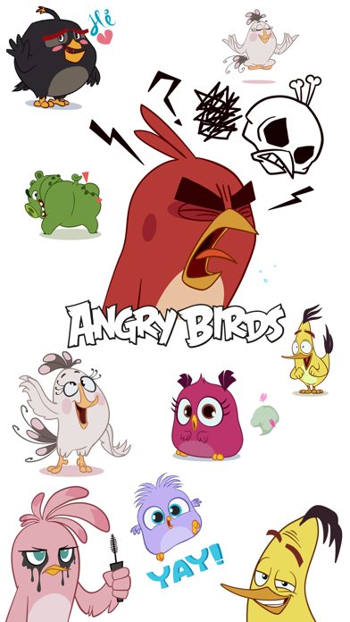 Angry Birds Stickers Screenshot