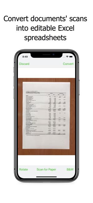 Image to Excel Converter - OCR Screenshot