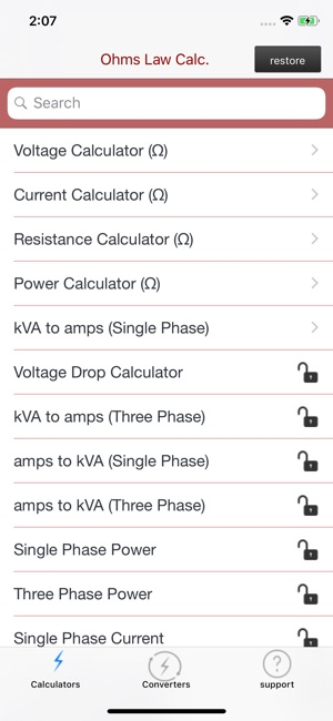 Ohms Law Calc On The App Store