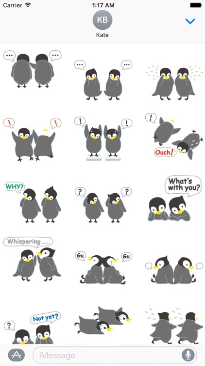 Adorable Twin Penguins Sticker