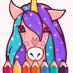 Animated Unicorn Coloring Book