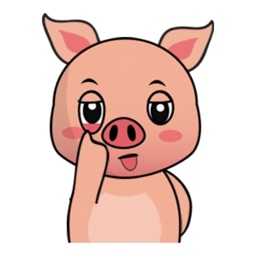 Little Funny Pink Pig