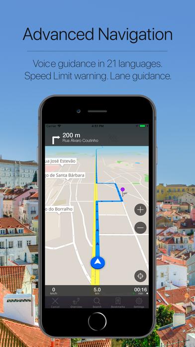 Portugal Offline Navigation Screenshot