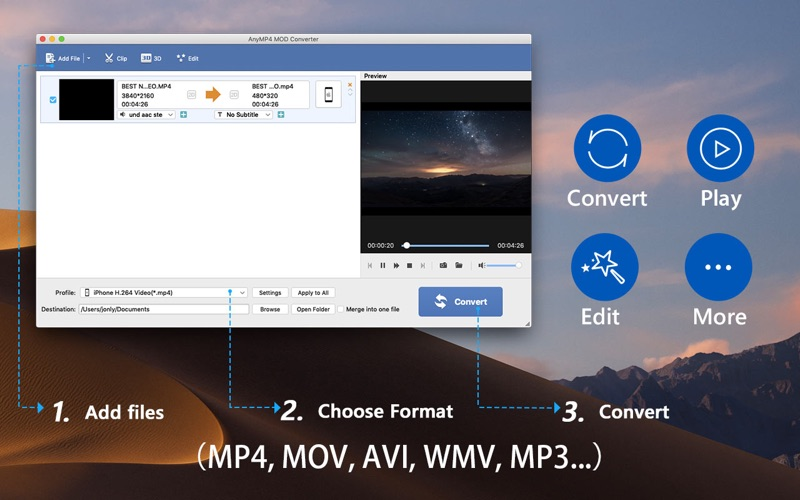 AnyMP4 MOD格式转换播放器