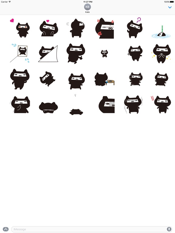 Animated Ninja Cat Sticker Gif screenshot 3