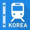韩国铁路线图 - 首尔、釜山和全韩国