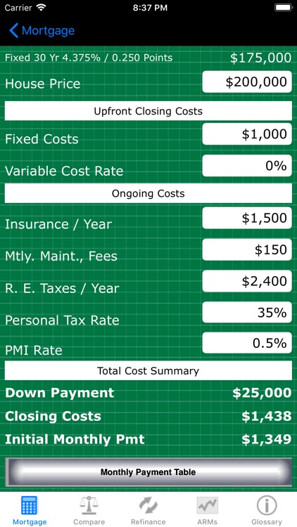 Mortgage Calc Pro screenshot-3