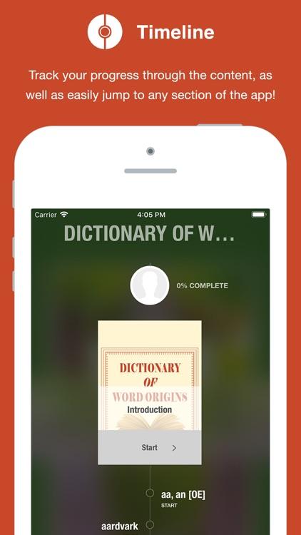 Dictionary of Word Origins