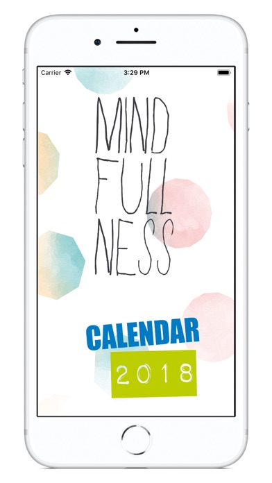 Mindfulness Calendar 2018 screenshot 1