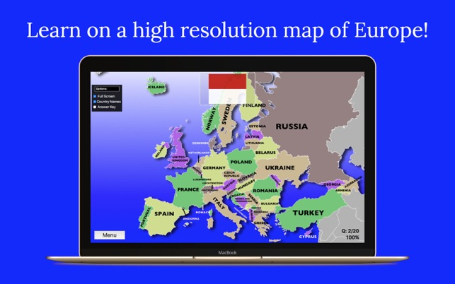 Europe map quiz on the mac app store gumiabroncs Gallery