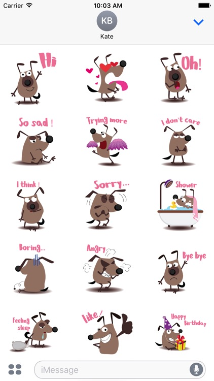 chocolate dog emoji & stickers