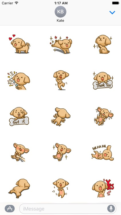 Adorable Poodle Dog Stickers