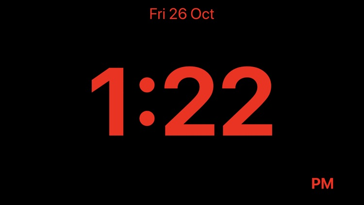 Minimalistic Bedside Clock screenshot-1