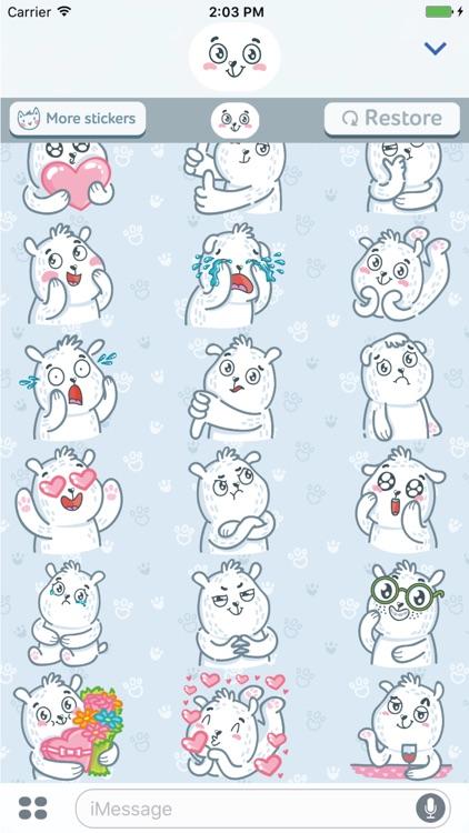 Polar Bear! Srickers for iMessage screenshot-4