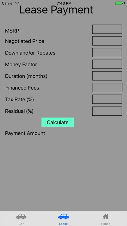 Simple Payment Calculator
