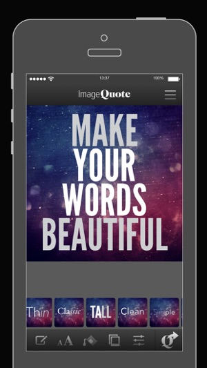 ImageQuote - add text captions to photos pictures on the App