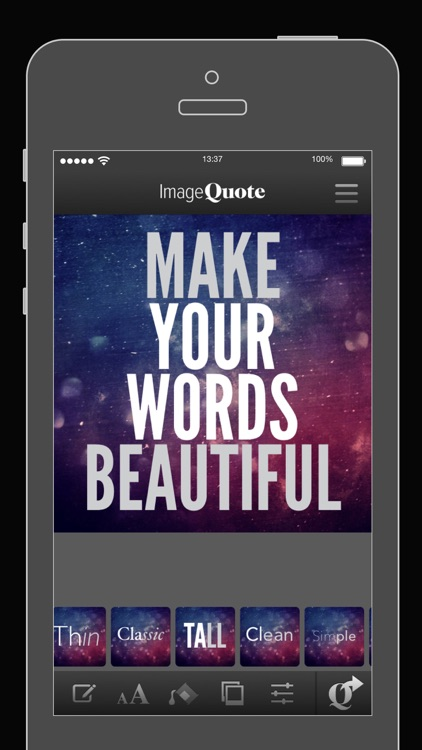 ImageQuote - add text captions to photos pictures
