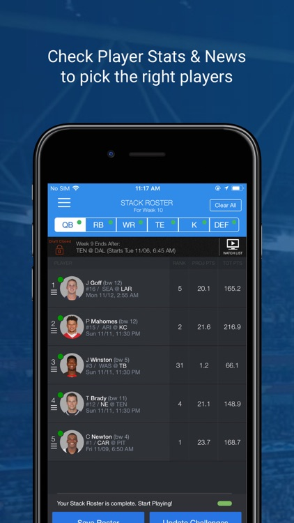 Sports Gamet Fantasy Football screenshot-3