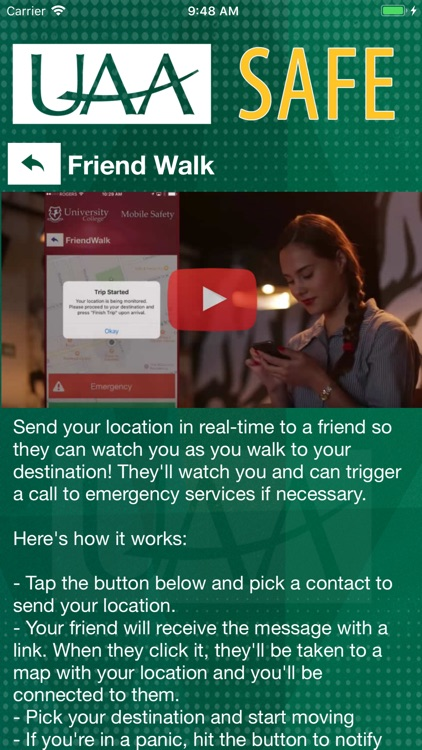 UAA SAFE screenshot-3