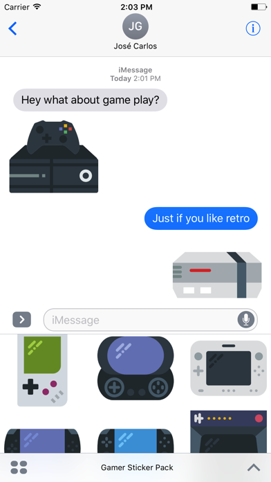 Gamer Sticker Pack for iMessage screenshot three
