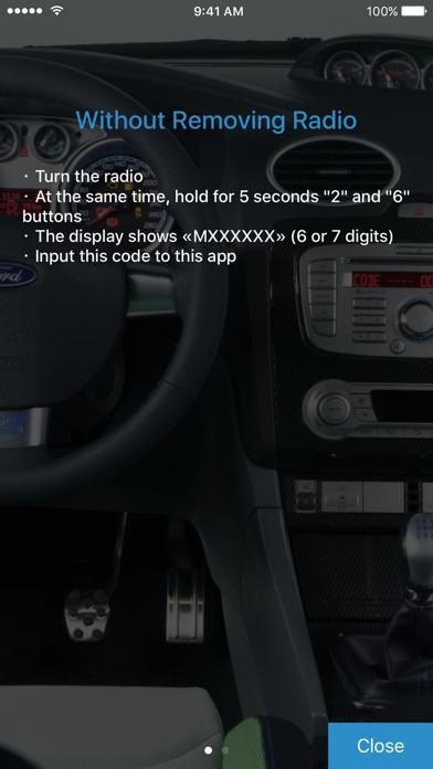Screenshot for Radio Code for Ford M in Denmark App Store