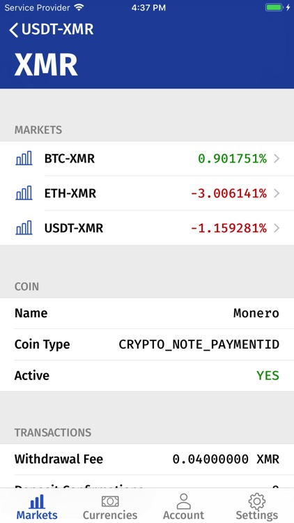ALTX: Third party Bittrex app screenshot-4