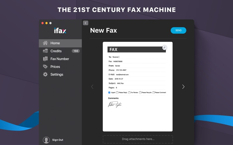 iFax: Send Fax & Receive Faxes for Mac