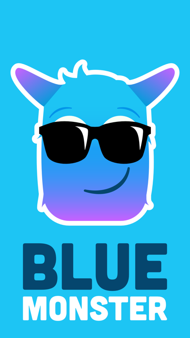 Blue Monster Emojis
